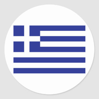 Greece Flag Classic Round Sticker