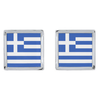 Greece Flag Cufflinks