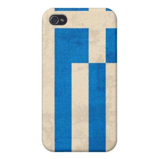 Greece Flag Distressed iPhone 4 Case - Greek Flag