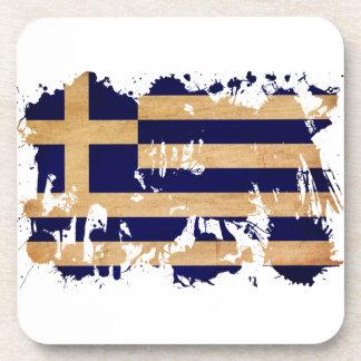 Greece Flag Drink Coaster