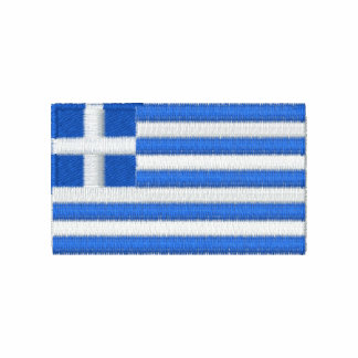 Greece flag embroidered men's t-shirt