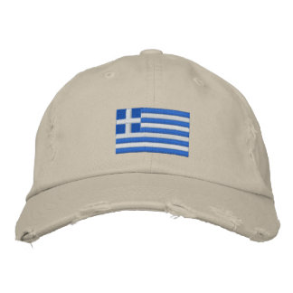 Greece flag embroidered twill cap embroidered hats