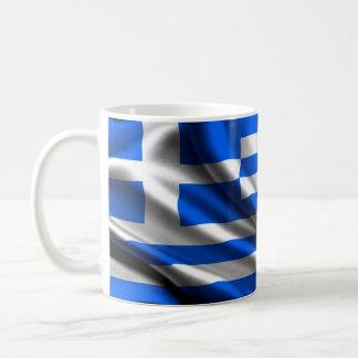 Greece Flag Fabric Coffee Mug