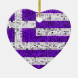 Greece Flag glitter ornament