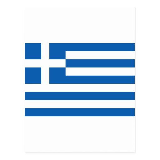 Greece Flag GR Postcard