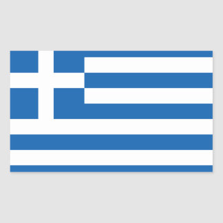 Greece Flag GR Rectangular Sticker