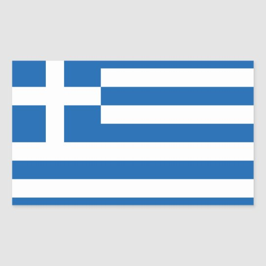 Greece Flag GR Rectangular Sticker