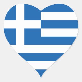 Greece Flag Heart Sticker