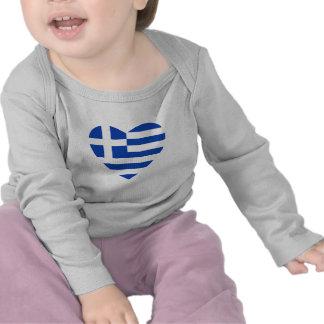Greece Flag Heart T-Shirt