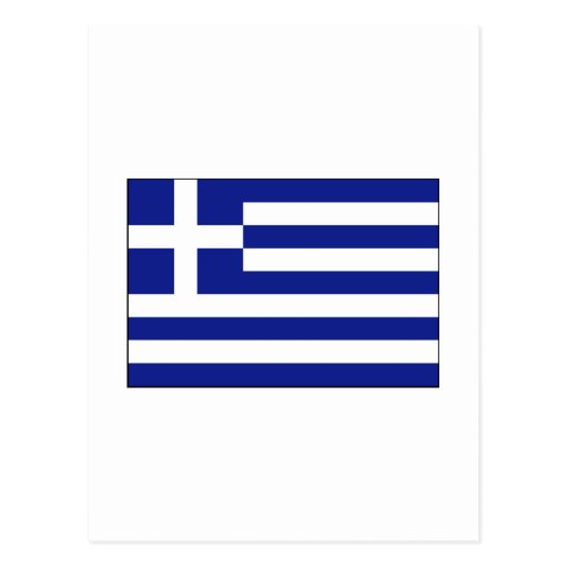 Greece FLAG International Postcard
