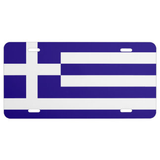 Greece Flag License Plate
