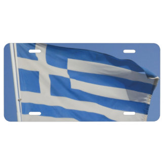 Greece Flag License Plate