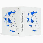 Greece Flag Map full size 3 Ring Binders
