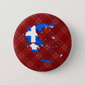 Greece Flag Map full size Button