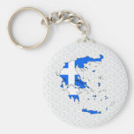 Greece Flag Map full size Key Chains
