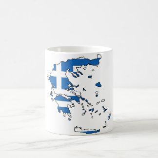 Greece Flag Map GR Coffee Mug