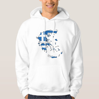 Greece Flag Map GR Hoodie