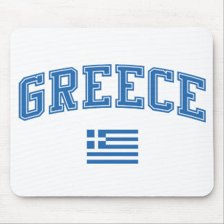 Greece + Flag Mouse Pad