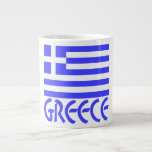 Greece Flag & Name Jumbo Mug