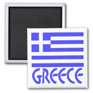 Greece Flag & Name Magnet