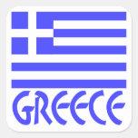 Greece Flag & Name Sticker