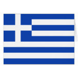 Greece Flag Notecard Greeting Cards