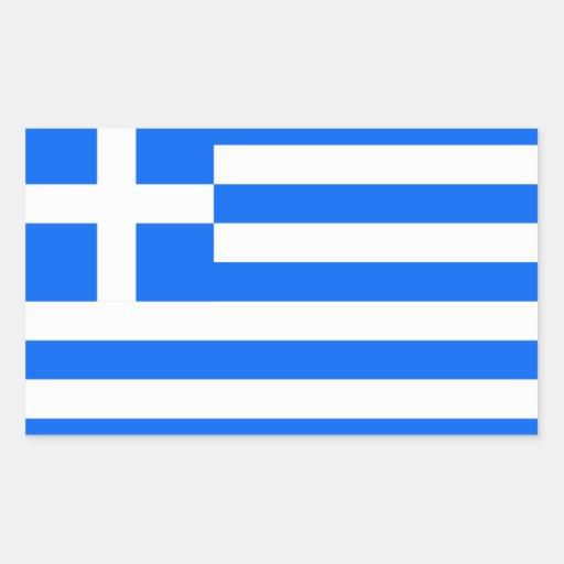 Greece: Flag of Greece Rectangular Sticker
