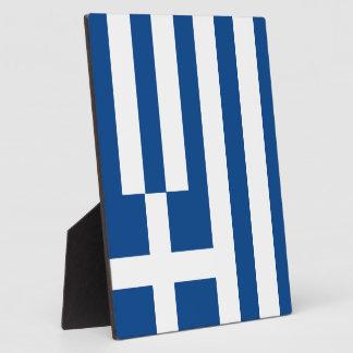 Greece Flag Display Plaque