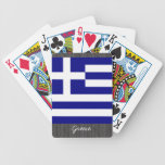Greece Flag Playing Cards Bicycle Playing Cards