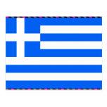 Greece Flag Post Card