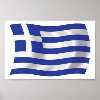 Greece Flag Poster Print