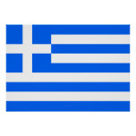 Greece Flag Print