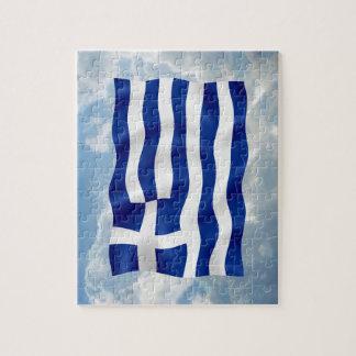 Greece Flag - Puzzle