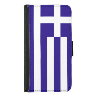 Greece Flag Samsung Galaxy S5 Wallet Case