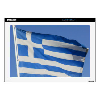 """Greece Flag Decals For 17"""" Laptops"""