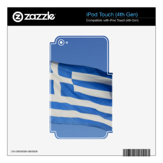 Greece Flag iPod Touch 4G Decals