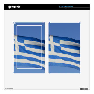 Greece Flag Decal For Kindle Fire