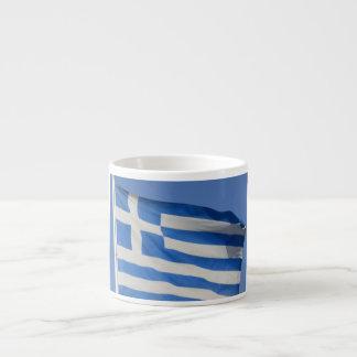 Greece Flag 6 Oz Ceramic Espresso Cup