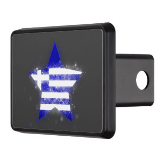Greece Flag Star Shining Trailer Hitch Cover
