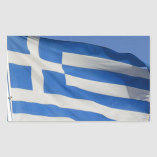 Greece Flag Rectangle Stickers