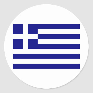 Greece-Flag Classic Round Sticker