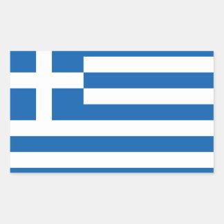 Greece Flag Stickers*   Ελλάδα Σημαία Αυτοκόλλητα Rectangular Sticker