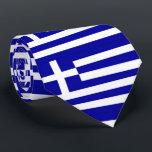 """Greece Flag Tie<br><div class=""""desc"""">Flag of Greece</div>"""