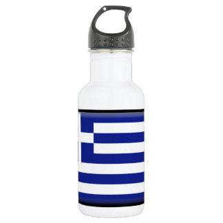 Greece Flag Water Bottle