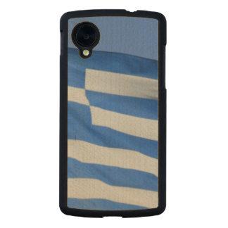 Greece Flag Carved® Maple Nexus 5 Case
