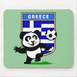 Mousepad with Greece Football Panda design