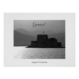 Greece fortress in Nafplio poster print