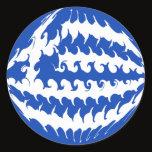 Greece Gnarly Flag Classic Round Sticker