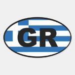 Greece GR European Oval Sticker
