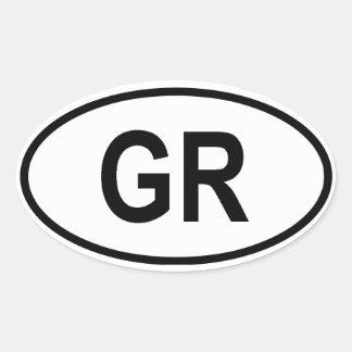 "Greece ""GR"" Oval Stickers"